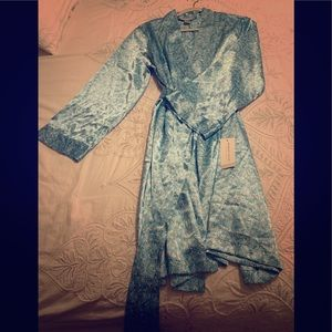 Morgan Taylor Intimates Robe - Turquoise- Large